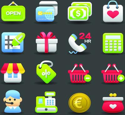 various society vector icons set