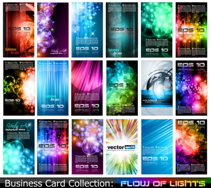 various style business card template vector set