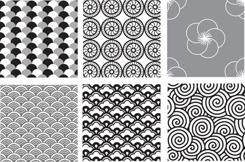 various style decorative pattern vector