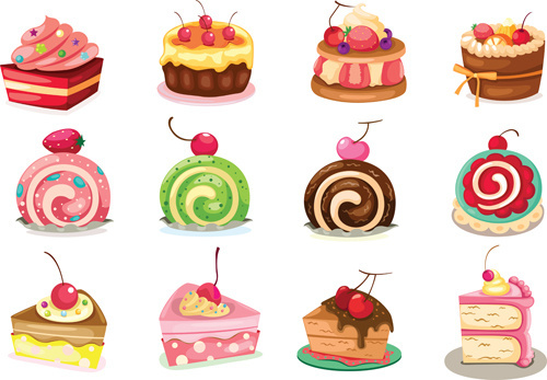 Vector cakes sweets free vector download (2,911 Free vector