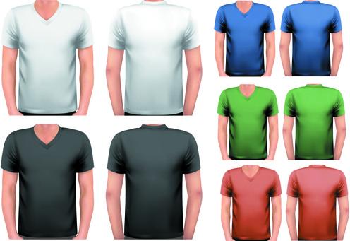 various t shirt for man vector