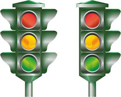 various traffic light design vector