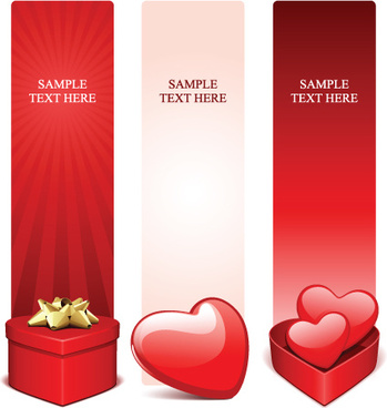 various valentines day cards design vector set