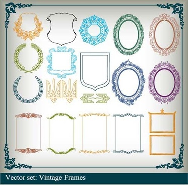 various vector frame set