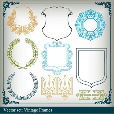 various vector frame set