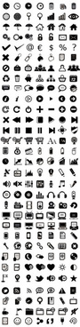 various web icon collection vector