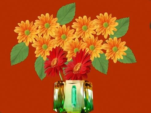 vase jewel flowers