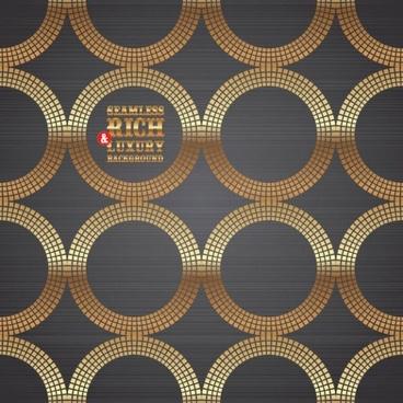 vector 3 gold circular background