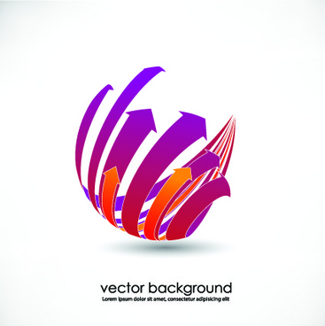 vector 3d business background