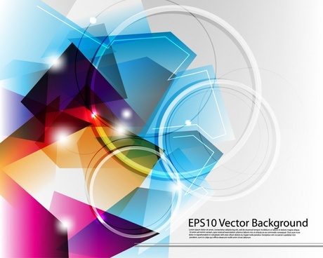 technology background sparkling modern colorful abstract geometric decor