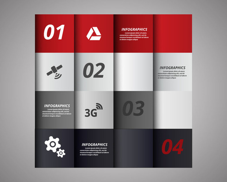 vector abstract squares background illustration of infographic diagram
