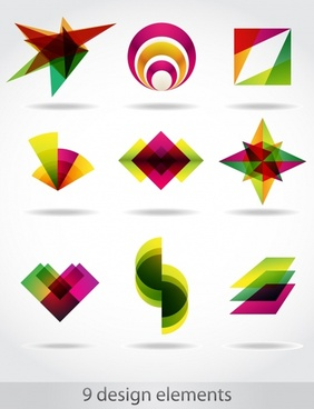 logo templates modern colorful geometric shapes