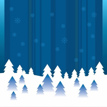 Vector Abstract Winter Background
