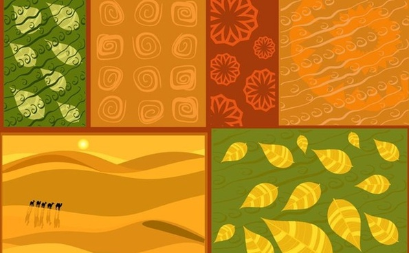ornaments background sets leaves flowers desert decoration