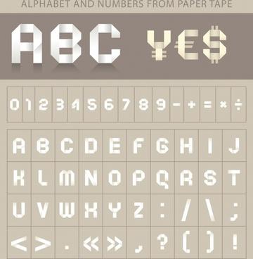 vector alphabet wordart
