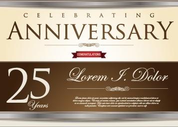 vector anniversary celebrating cerative design