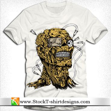 vector apparel tshirt design with demon man