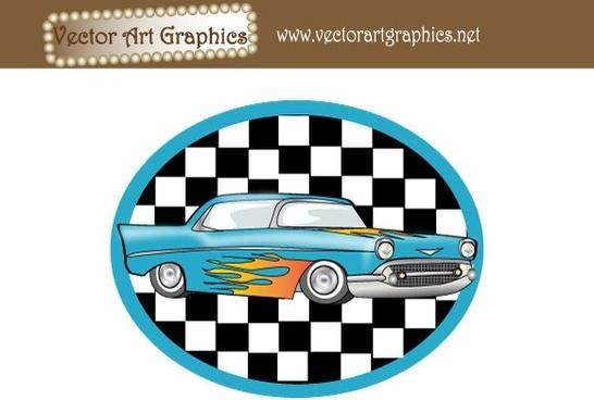 Vector Art Graphics - Classic Automobile