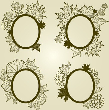 Vector leaf frame free vector download (8,924 Free vector) for ...