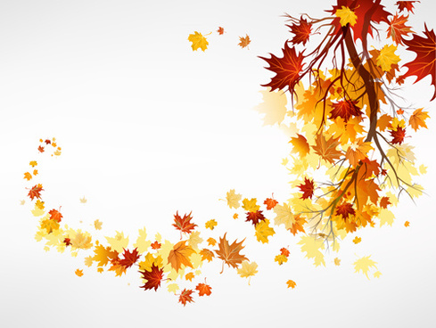 vector autumn leaves background graphic