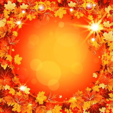 Vector autumn leaves backgrounds art