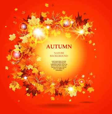 vector autumn leaves backgrounds art