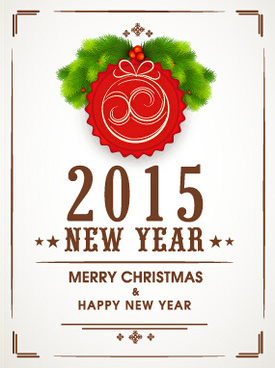 vector background15 christmas with new year frame vector