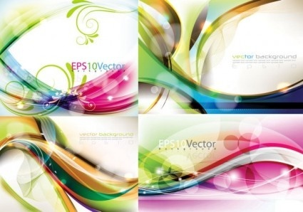 vector background beautifully colored wavy design