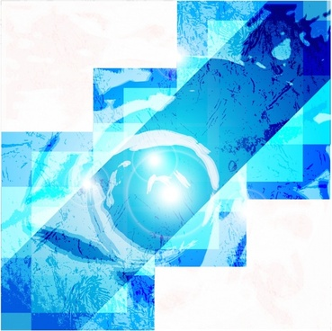 technology background template vivid blue abstract decor