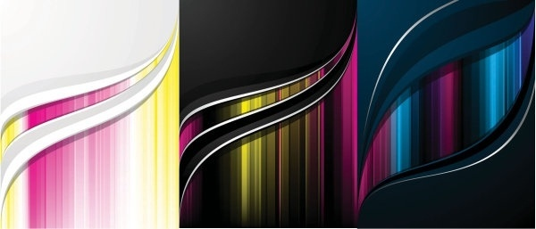vector background color flow lines