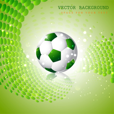 vector background design with green ball