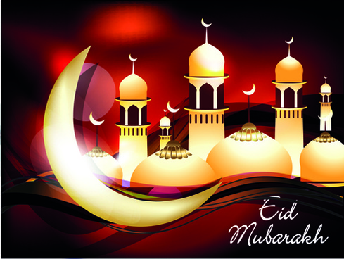 vector background eid mubarak islamic design