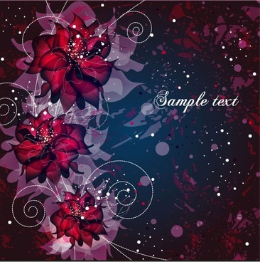 vector background floral fantasy 02