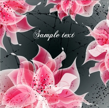 vector background floral fantasy 04