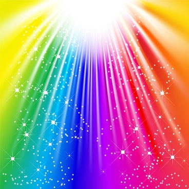 decorative background sparkling colorful vivid dynamic rays decor