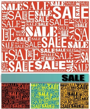 vector background of sale font