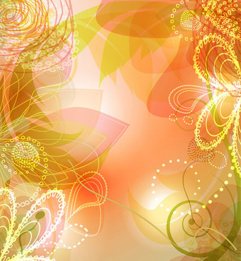 vector background of shiny floral art