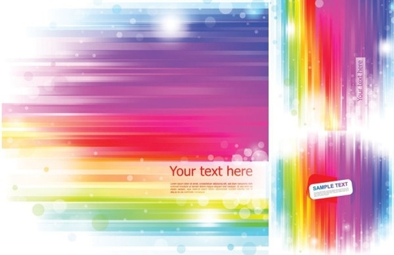 vector background rainbow