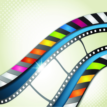 vector background with film elements