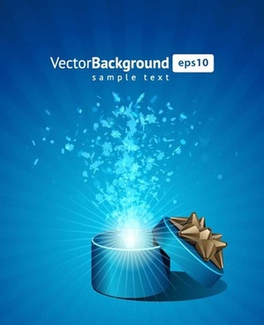 vector background with gift box set