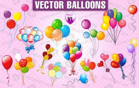 vector balloons clipart