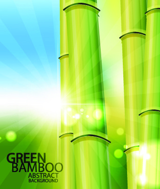 vector bamboo design elements background