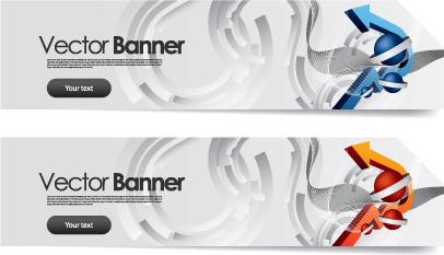 vector banner arrow design set