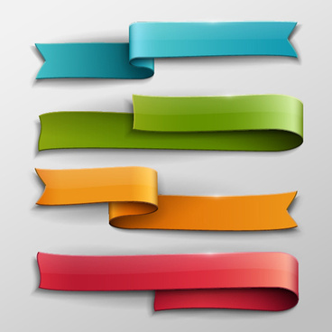 vector banner colored ribbon design