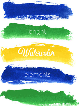 vector banner watercolor design elements