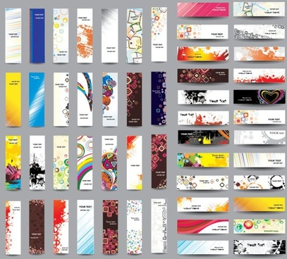 presentation templates collection colorful horizontal vertical design