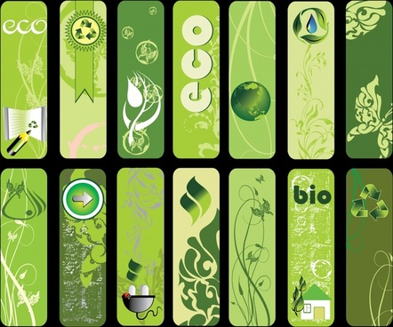 eco tags templates green vertical design