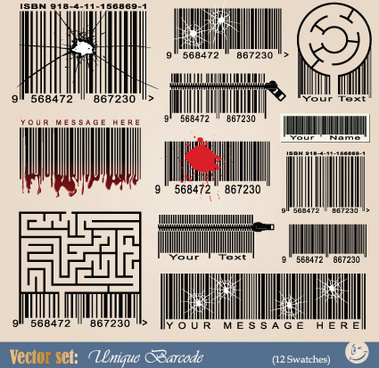vector barcode design art