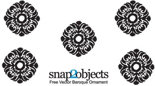 Vector baroque ornament