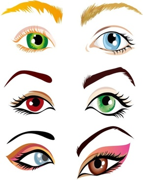 vector beautiful eyes